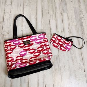 Lulu Guinness   Kisses Small Tote w/ Matching Bag